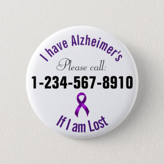 Alzheimers Notkontakt Runder Button 5,7 Cm