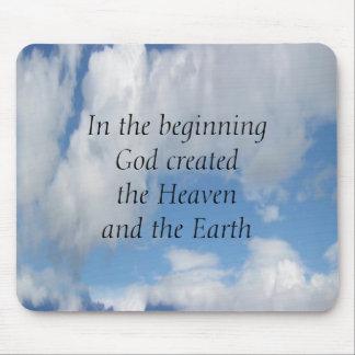 Am Anfang Gott hergestellt…. Wolke Mousepad
