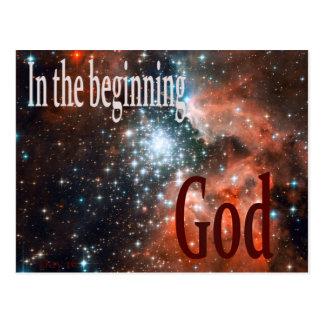 Am Anfang Gott Postkarte