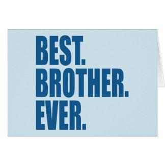 Am besten. Bruder. Überhaupt. (Blau) Karte