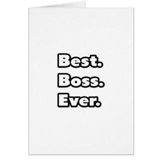 Am besten. Chef. Überhaupt Grußkarte