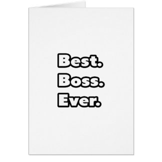 Am besten. Chef. Überhaupt Karten
