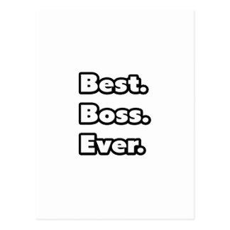 Am besten. Chef. Überhaupt Postkarte