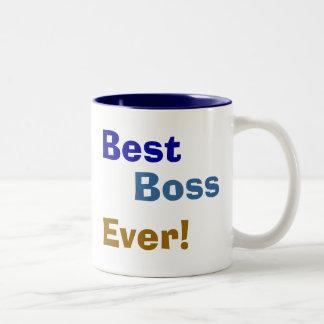 Am besten, Chef, überhaupt! Zweifarbige Tasse