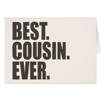 Am besten. Cousin. Überhaupt Karte