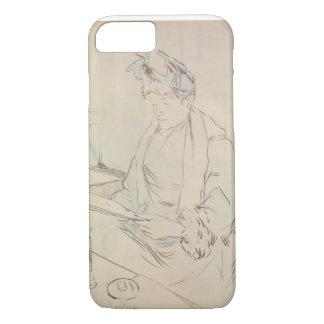 Am Café (Bleistift u. Tinte auf Papier) iPhone 8/7 Hülle