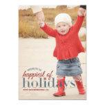 Am glücklichsten Feiertags-Foto-dem Gruß von der Einladungskarte