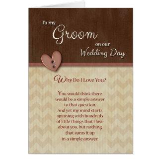 Am Hochzeits-Tag, zum zu pflegen, warum i-Liebe Karte