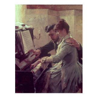 Am Klavier Postkarte