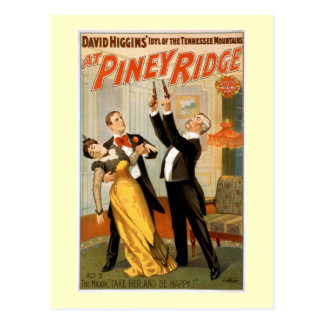 Am Piney Vintagen Theater-Plakat Ridges Postkarte