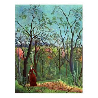 Am Rand eines Waldes Postkarte