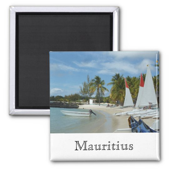 Am Strand von Mauritius Quadratischer Magnet
