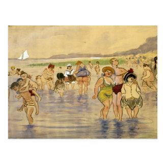 Am Strand - Zille Postkarte