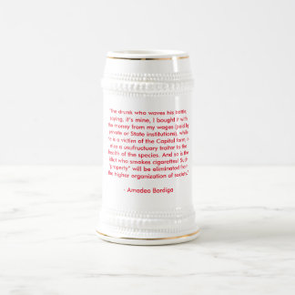 Amadeo Bordiga, der Bier Stein Anti-trinkt Bierglas