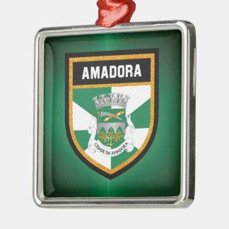 Amadora Flagge Silbernes Ornament