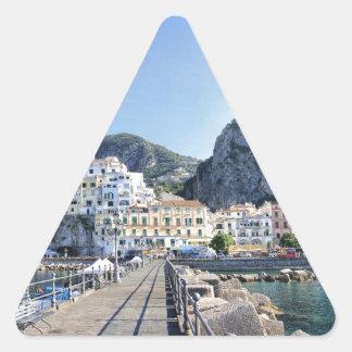 Amalfi-Italien-Hafen-Amalfiküste-dito Dreieckiger Aufkleber