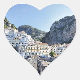 Amalfi-Italien-Hafen-Amalfiküste-dito Herz-Aufkleber