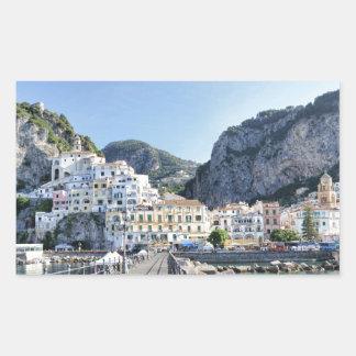 Amalfi-Italien-Hafen-Amalfiküste-dito Rechteckiger Aufkleber