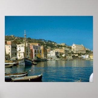 Amalfi-Küste, Salerno Ufergegend Poster