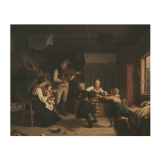Amalia Lindegren - Sonntag Abend in einem Holzdruck