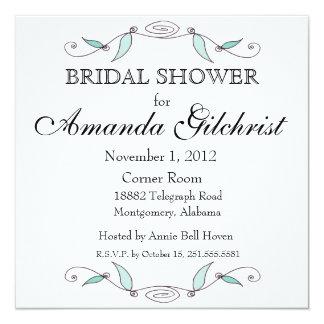 Amanda und Joseph - quadratisches Brautparty Quadratische 13,3 Cm Einladungskarte