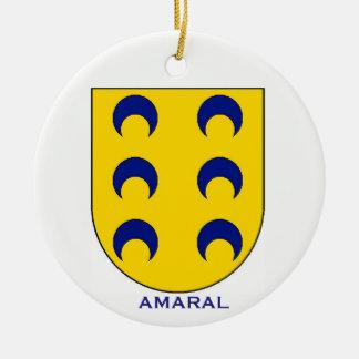 Amaral Familien-Wappen Weihnachtsverzierung Keramik Ornament