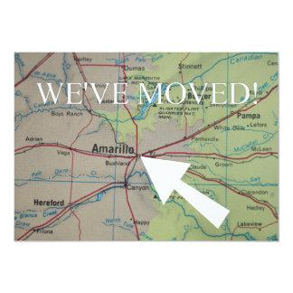 Amarillo haben wir neue Adressen-Mitteilung bewegt 12,7 X 17,8 Cm Einladungskarte