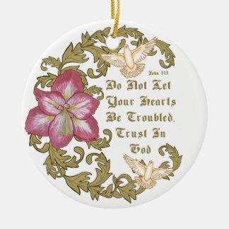 Amaryllis-Vertrauens-Gott Keramik Ornament