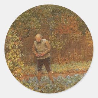 Amateur (Kutscher u. Kohlpflanzen) durch Frederick Runder Aufkleber