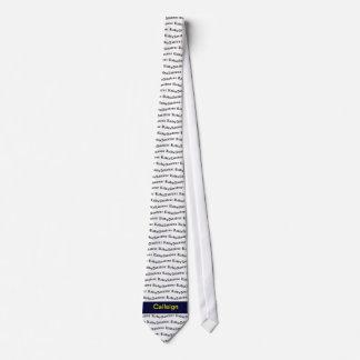 Amateurradio und dunkelblaues Rufzeichen Krawatte