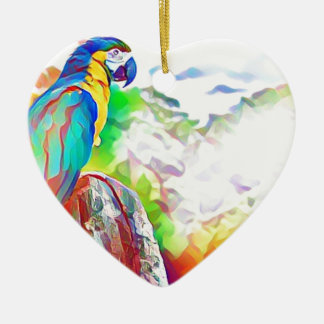 Amazonas-Vogel Keramik Ornament