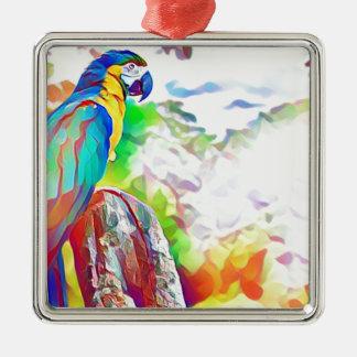 Amazonas-Vogel Silbernes Ornament