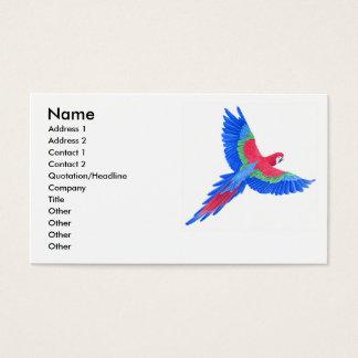 Amazonischer Macaw Visitenkarte