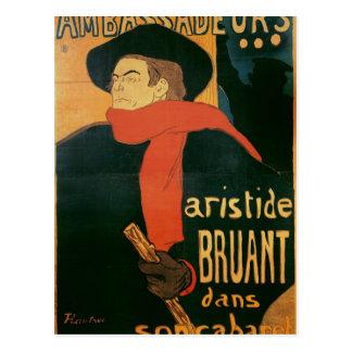 Ambassadeurs: Aristide Bruant, 1892 Postkarte