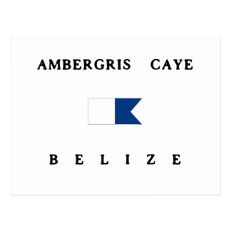 Amber Caye Belize Alphatauchen-Flagge Postkarte