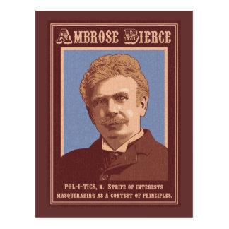 Ambrose Bierce - Politik Postkarte