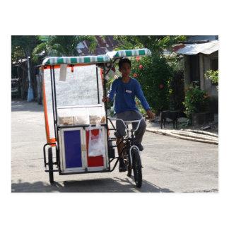 Ambulantes Bäckereigeschäft Postkarte