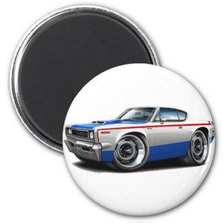 AMCrebellenmaschinen-Rot-Weiß-Blaues Auto 1970 Runder Magnet 5,1 Cm