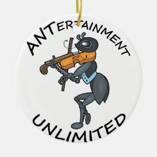 AMEISE Unterhaltung unbegrenzt, Geige spielend Keramik Ornament