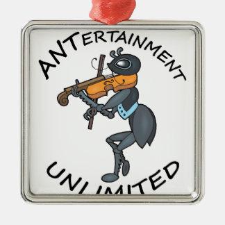 AMEISE Unterhaltung unbegrenzt, Geige spielend Silbernes Ornament