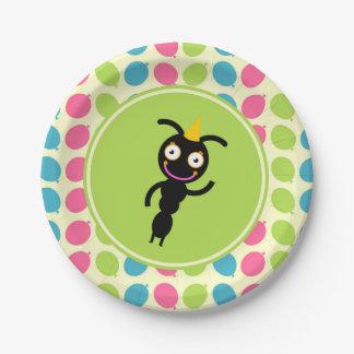 Ameisen- und Ballon-Kindergeburtstag-Party Pappteller