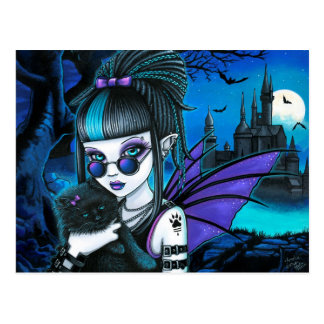 Amelia-Vampir Twixt Werekitty Schloss-Postkarte Postkarte