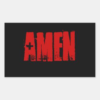 Amen Rechteckige Sticker