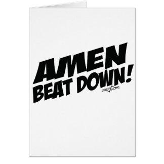 AMEN Beatdown Grußkarte