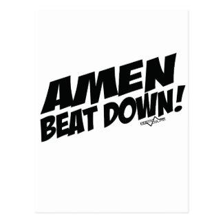 AMEN Beatdown Postkarten