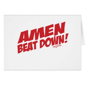 AMEN Beatdown R Grußkarte