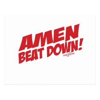 AMEN Beatdown R Postkarte