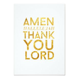 Amen danken Halleluja Ihnen Lord Desk Card 12,7 X 17,8 Cm Einladungskarte