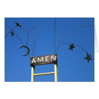 Amen Grußkarte