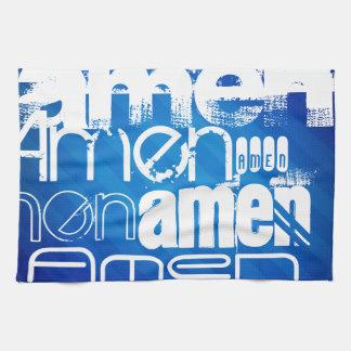 Amen; Königsblau-Streifen Handtuch
